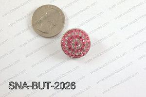 snap button 20 mm pink,clear round SNA-BUT-2026