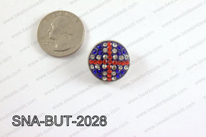 snap button 20 mm red, blue, clear round SNA-BUT-2028