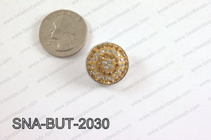 snap button 20 mm brown,clear round SNA-BUT-2030