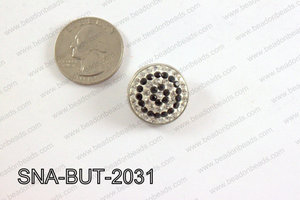 snap button 20 mm black,clear round SNA-BUT-2031