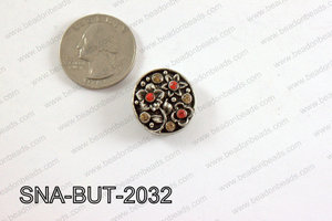 snap button 20 mm red round SNA-BUT-2032