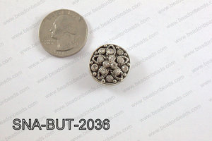 snap button 20 mm clear flower round SNA-BUT-2036