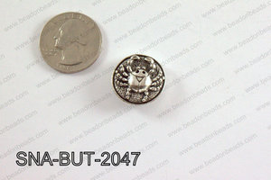 snap button 20 mm metal crab round SNA-BUT-2047