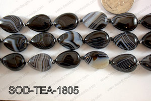 Sardonyx Flat Teardrop 14x18mm SOD-TEA-1805