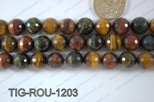 Tiger eye Round Faceted 12mm TIG-ROU-1203