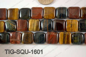Tiger eye Square  16mm TIG-SQU-1601