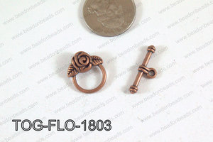 Flower Toggle Copper 18mm TOG-FLO-1803