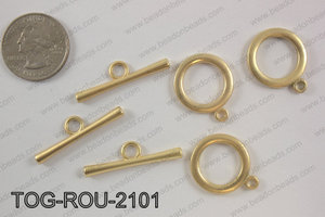 Toggle round 21mm, matte goldTOG-ROU-2101