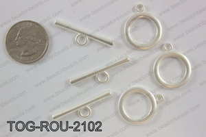 Toggle round 21mm, matte silverTOG-ROU-2102