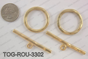 Toggle round 33mm, matte goldTOG-ROU-3302