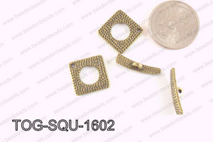 Square Toggle Bronze 16mm TOG-SQU-1602