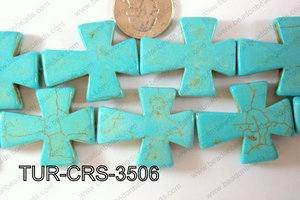 Howlite Cross 35x30mm TUR-CRS-3506