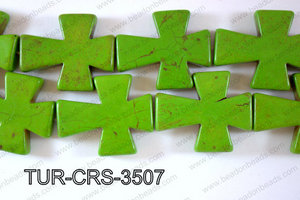 Howlite Cross 35x30mm TUR-CRS-3507