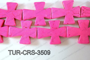 Howlite Cross 35x30mm TUR-CRS-3509
