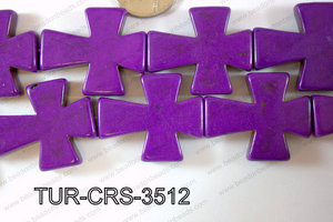 Howlite Cross 35x30mm TUR-CRS-3512
