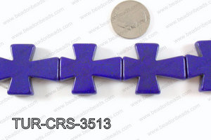 howlite cross 35x30mm dark blue TUR-CRS-3513