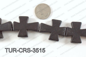 howlite cross 35x30mm black TUR-CRS-3515