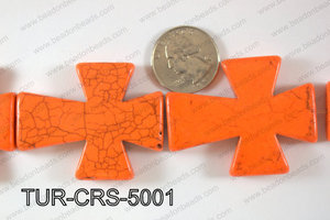 Howlite Cross 40x50mm TUR-CRS-5001
