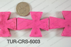Howlite Cross 40x50mm TUR-CRS-5003