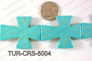 Howlite Cross 40x50mm TUR-CRS-5004