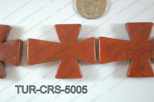 Howlite Cross 40x50mm TUR-CRS-5005