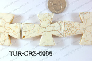 Howlite Cross 40x50mm TUR-CRS-5008