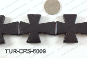 howlite cross 40x50mm black TUR-CRS-5009