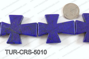 howlite cross 40x50mm dark blue TUR-CRS-5010