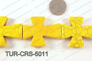 howlite cross 40x50mm yellowTUR-CRS-5011