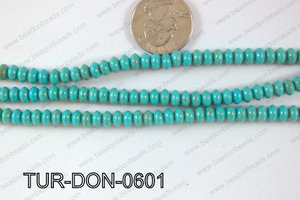Howlite Donut 6mm TUR-DON-0601