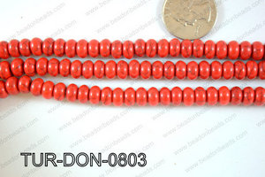 Howlite Donut 8mm TUR-DON-0803