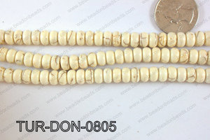 Howlite Donut 8mm TUR-DON-0805