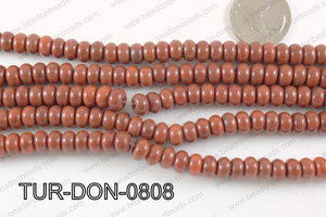 Howlite Donut Brown 8mm TUR-DON-0808
