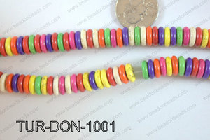 Howlite Donut 10mm TUR-DON-1001