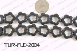 howlite flower black 20mm TUR-FLO-2004