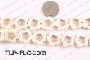 howlite flower white 20mm TUR-FLO-2008