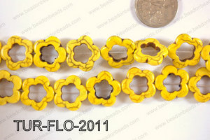 Howlite Flower 20mm TUR-FLO-2011