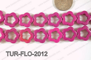 Howlite Flower 20mm TUR-FLO-2012