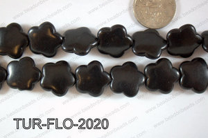 Howlite Flower 20mm TUR-FLO-2020
