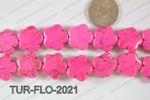 Howlite Flower 20mm TUR-FLO-2021