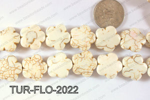 Howlite Flower 20mm TUR-FLO-2022