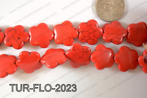 Howlite Flower 20mm TUR-FLO-2023