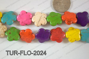 Howlite Flower 20mm TUR-FLO-2024