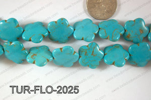 Howlite Flower 20mm TUR-FLO-2025