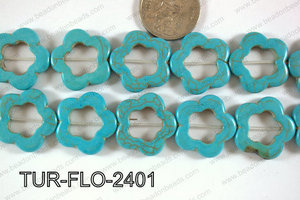 Howlite Flower 24mm TUR-FLO-2401
