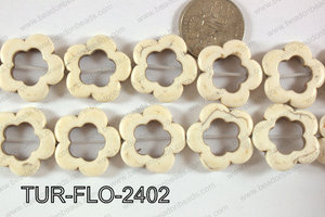 Howlite Flower 24mm TUR-FLO-2402