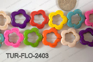 Howlite Flower 24mm TUR-FLO-2403