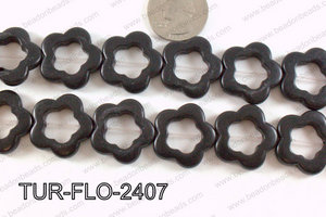 howlite flower black 24mm TUR-FLO-2407