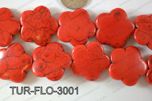 Howlite Flower 30mm TUR-FLO-3001