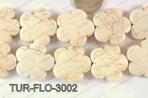 Howlite Flower 30mm TUR-FLO-3002